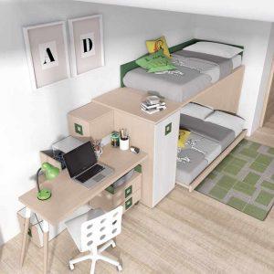 Dormitorio Literas Green
